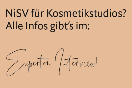 HELLO BEAUTY Marketing GmbH - Exklusives NiSV Update - Interview mit Jens Radeske - In einem exklusiven Interview mit dem NiSV Experten Jens Radeske von https://www.younea.net klären wir die wichtigsten Fragen zum Thema NiSV für Kosmetikstudios.